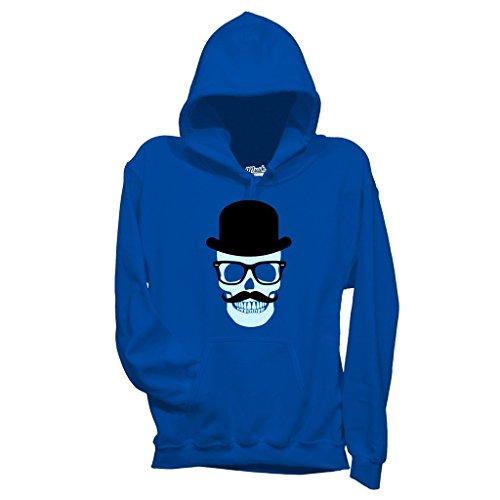 Felpa ELEGANT SKULL TESCHIO - MUSH by Mush Dress Your Style Blu Royal