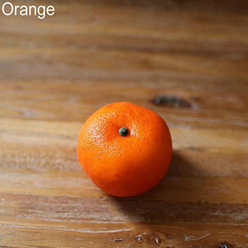 RYcoexs Fruits artificiels décoratifs réalistes Faux Apple Banana Pear Home Decor Orange