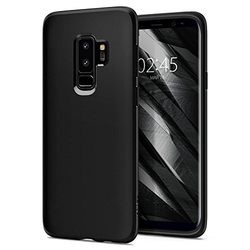 Samsung Galaxy S9 Plus Case, Spigen® [Liquid Crystal] Galaxy S9 Plus Case with Light but Durable Flexible Clear TPU Protection for Samsung Galaxy S9 Plus (2018) - Matte Black - 593CS22912
