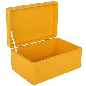 Creative Deco Blau Große Holzkiste Aufbewahrungsbox Spielzeug | 30 x 20 x 14 cm | Ohne Griffe | mit Deckel | Truhe zum Dekorieren | Perfekt für Dokumente, Wertsachen, Spielzeug und Werkzeuge