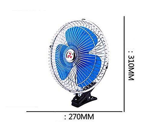 Alger Auto-Fan 180 Grad schüttelte seinen Kopf voller Kupfer-Elektrode Windkraft starke Kühlung Auto-Lüfter , truck 10 inch 24v blue full seal (3 leaf