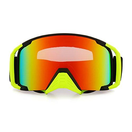 Alamor Moto Racing Anti Brouillard Lunettes Dual Lens Outdooors Snowboard Ski Mat Noir Cadre