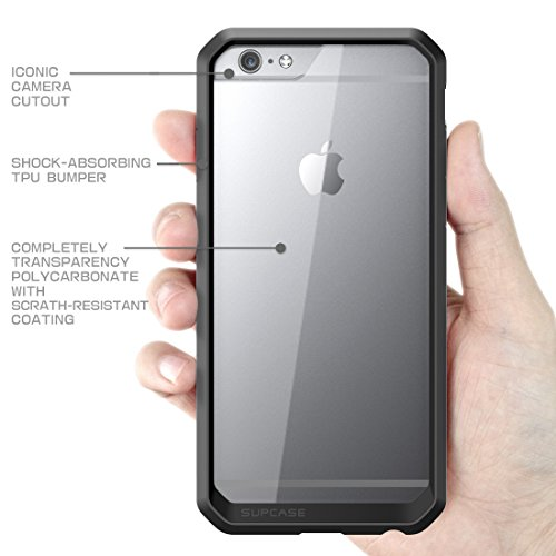 Apple iPhone 6 Plus / 6S Plus (5.5 Zoll) Hülle, SUPCASE Unicorn Beetle Premium Case / transparente Schutzhülle Schwarz
