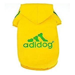 JUYUAN-EU Adidog Pet Chien Combinaison Chaperon Chat Chandail Chiot T Shirt Chaud Hoodies Manteau V¨ºtements pour Grand