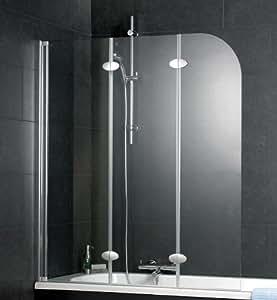 schulte badewannenaufsatz 3 teilig d3354 echtglas klar profilfarbe alunatur baumarkt. Black Bedroom Furniture Sets. Home Design Ideas