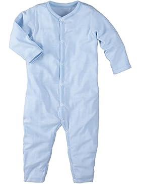 wellyou, Schlafanzug, Pyjama für Jungen und Mädchen, Einteiler langarm, Baby Kinder, hell-blau weiß gestreift,...