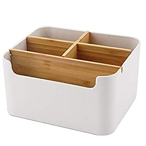 Kinshin Holz Desktop Fernbedienungshalter Commander Aufbewahrungsbox, für bis zu Fernbedienungen, Auch Als Organizer für…