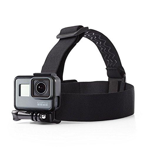 Febbya Fascia da Testa per Action Cam, 2 Pack GoPro Head Strap Mount Universale Fascia Testa per Fotocamera Impermeabile Regolabile per GoPro Hero Campark 4k Nero