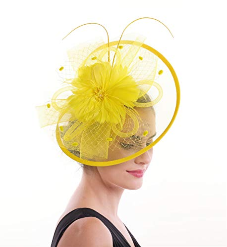 f34406a2 Lucky Leaf Women Girl Fascinators Hair Clip Hairpin Hat Feather Cocktail  Wedding Tea Party Hat Church