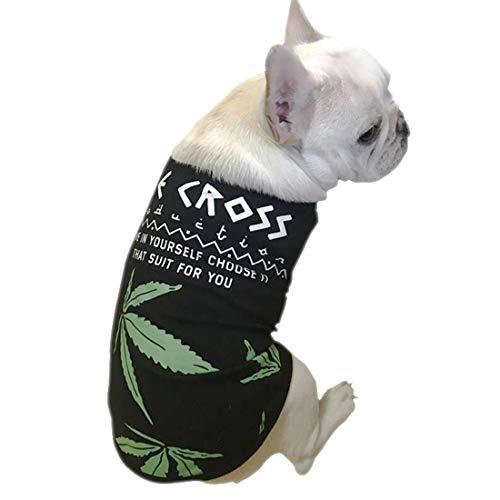 PZSSXDZW Haustierhundekostüm 2019 Frühling Weste Modetrend Hundekostüm,Schwarz,M