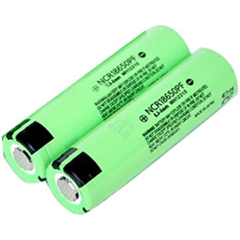 Batería 2pcs 3.7V 2900mAh NCR 18650PF litio recargable .