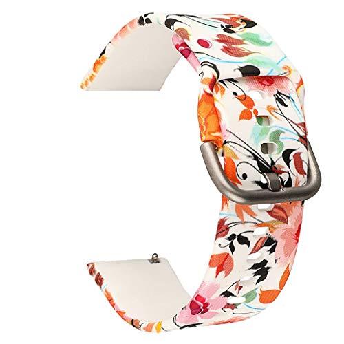 SYY Sport silikon Armband Uhrenband, Damen Armbänder Strap Band Ersatzarmband Uhrenarmband für Samsung Galaxy Watch 42mm / Active 40mm (Orange)