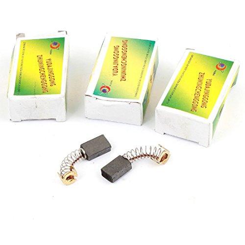 sourcingmap® 16mm x 10mm x 6mm Utensile Elettrico Motore Elettrico Spazzole In Carbonio 8 Pezzi