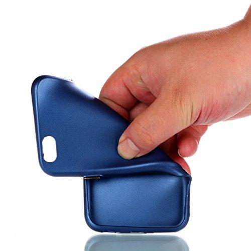Housse iPhone 6/6S OuDu Étui en UV Curing Silicone [Housse Givré] Coque Transparente Flexible Mince **NEW** Étui TPU de Haute Qualité Housse Souple de Protection Coque Lisse Poids Léger Soft Silicone  Bleu