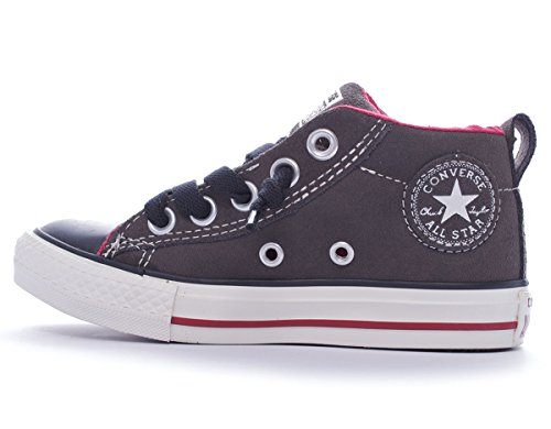 Sneaker High red black Chuck Charcoal Suede Wildleder Taylor Unisex Street Mid Converse Kinder Bnzn8q
