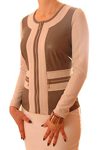 Poshtops - Chaqueta de traje - para mujer gris marrón 44