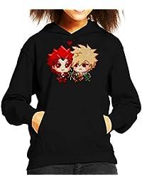 Cloud City 7 My Hero Academia Kiribaku Pixel Kids Hooded Sweatshirt
