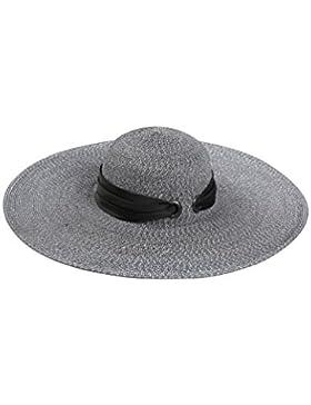 Ms Big Tettoie spiaggia della paglia cappello di protezione solare Cappello per il sole pieghevole Sunhat elegante