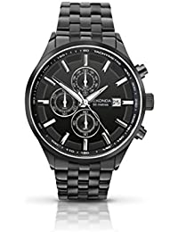 Sekonda Men's Quartz Watch with Black Dial Chronograph Display and Black Stainless Steel Bracelet 1158.27