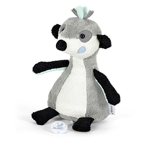 Sterntaler 6011622 - Spieluhr Elvis, M, grau/weiß/schwarz/mint