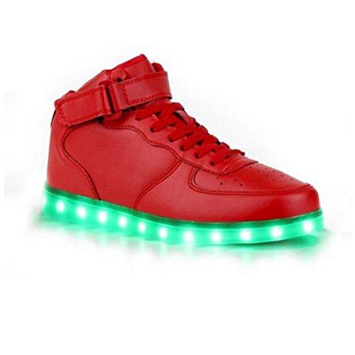 [Présents:petite serviette]JUNGLEST® 7 Couleur Mode Unisexe Homme Femme USB Charge LED Lumière Lumineux Clignotants Chaussures de ma c10
