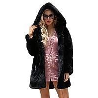 Cardith Winter Ladies Long Faux Fur Jacket Parka Outerwear Women
