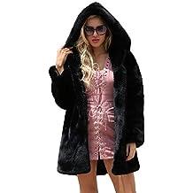 Sobretodo Slim Casual Sólido con Capucha Abrigo de Mujer Cardigan Abrigo Largo con Capucha Chaqueta de