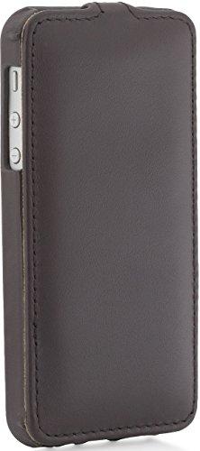 StilGut UltraSlim Case, Tasche aus Leder für Apple iPhone 5, 5s & iPhone SE, Schwarz - Nappa Cognac - Nappa