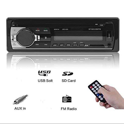 Ezonetronics® In-Dash stereo Bluetooth ricevitore audio con ingresso AUX adattatore radio FM lettore MP3supporto auto AUX IN TF Card USB AUX ricevitore + telecomando LC046