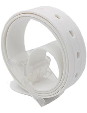 MEISHINE® Unisex Cinturón de Silicona Cinturón de Moda Hebilla de Plástico