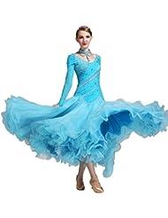 b0a27969293ed7 Wangmei Modern National Standard Tanz Rock Luxus Performance Kostüme Große  Schaukel Für Frauen Wettbewerb Kleider mit