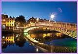 1art1 Irland Poster und Kunststoff-Rahmen - Dublin,