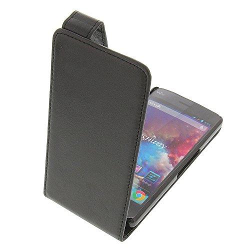 foto-kontor Tasche für Wiko Highway Highway 4G Flipstyle Schutz Hülle schwarz