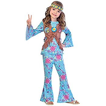 9649e4f2314f Disco Diva Teen Girls 1970s Fancy Dress 70s Childrens Costume Hippy ...