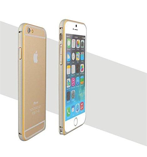 Ultra fin Cadre en aluminium métal Bumper Coque de Luxe pour iPhone 6 argent