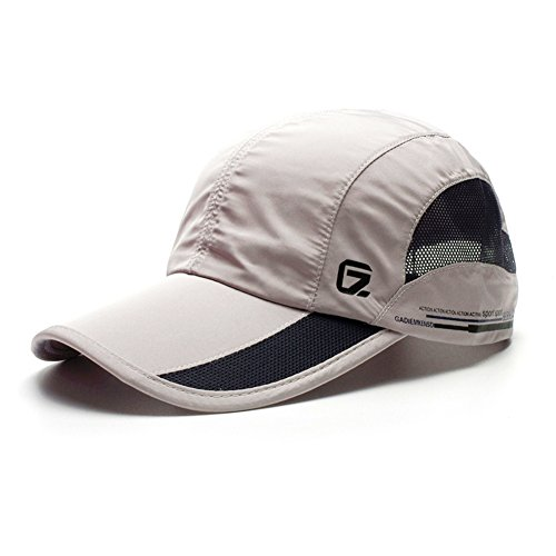GADIEMENSS Quick Drying Breathable Hat Outdoor Cap (Light Grey) (Womens Life Is Good Hat)