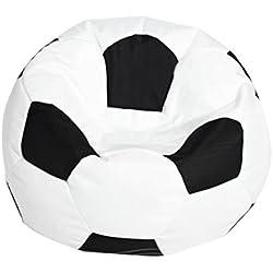 B Blesiya Cubierta de Bolsa de Frijoles de Fútbol de Haba de Oxford Gran Alternativa para Jugar con Hamacas,Redes y Papeleras - Blanco