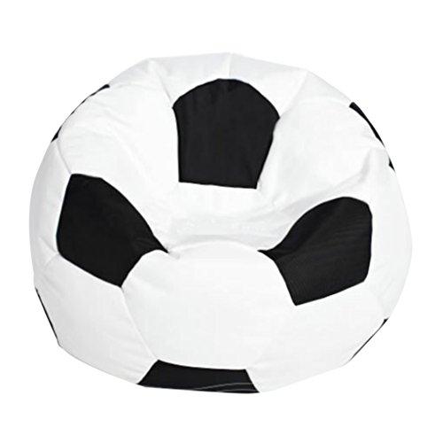 Homyl Cubierta de Bolsa de Frijoles de Fútbol Bolsas Ahorradoras de Espacio Sofás para Niños - Blanco