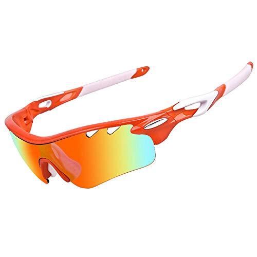 fennd Mode Radsportbrille polarisierte Mountainbike-Brille Outdoor Sportgeräte Sonnenbrille Reiten Motorrad @ Orange