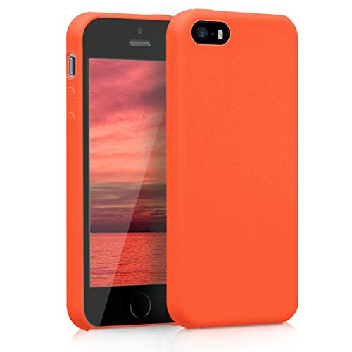 kwmobile Apple iPhone SE / 5 / 5S Hülle - Handyhülle für Apple iPhone SE / 5 / 5S - Handy Case in Orange