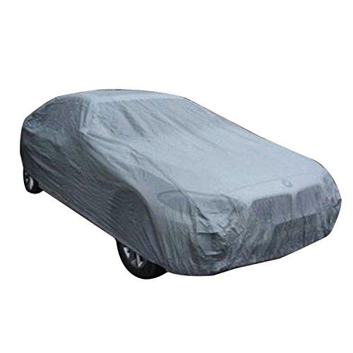 logei® Voiture Auto Housse Anti poussière Etanche Anti soleil Anti-UV Bâche Couverture universelle, 430 x 160 x 120cm, argent