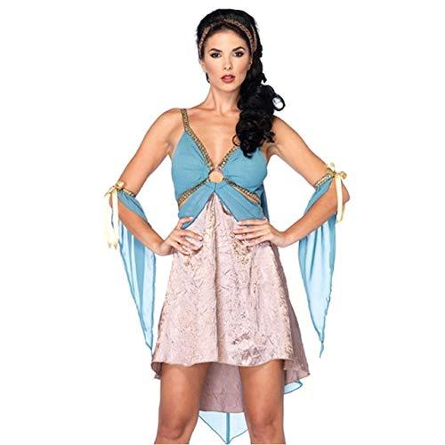 FHSIANN Griechenland Ägyptische Prinzessin Cleopatra Königin Halloween Erwachsene Cosplay Frauen Sexy Party Autonival (Sexy Ägyptische Prinzessin Kostüm)