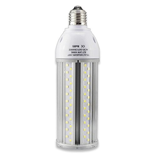 Tongsung LED-Lampen, 24W Natürlich Weiß (4500K) Mit breitem Eingangsspannung AC85V-265V, Super Bright Light Output(2500 lm), Mit Aluminiumlegierung Bau und Staubschutz (Schutzstufe : IP64). E27 Cap