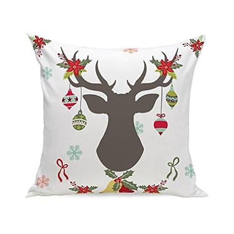 Joyeux Noël ! Reaso Super Doux Série de Noël Canapé-lit Décoration intérieure Section Blanc Coussin (A)