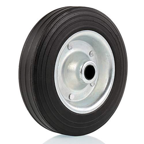 deiwo Ersatzrad für Stützrad Metall-Felge mit Vollgummi-Reifen 200x50mm - Anhänger-reifen Felge Und