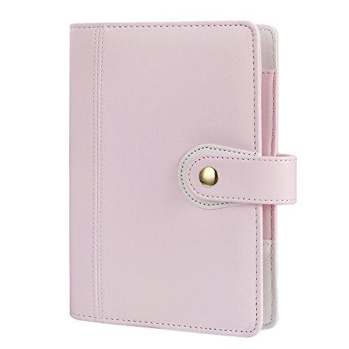 Persönlichen Organzier, Spirale Binder Notebook, harphia, Reisen Tagebuch, AGENDA Organizer, Größe 19x 14cm mit Druckknopfverschluss A6 7.48 x 5.51'' Kitty Pink
