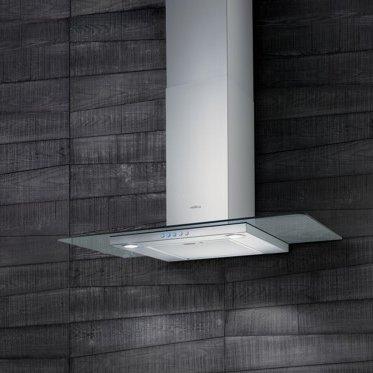 Elica Flat Glass IX/A/90MONTIERT Wand Edelstahl 450m³/h-Hauben (450m³/h, führt, 59dB, montiert Wand, Edelstahl, 2Leuchtmittel (S)) -