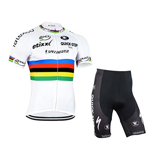 Strgao 2016 Herren Pro Rennen Team Quick Step MTB Radbekleidung Radtrikot Kurzarm und Radhosen Anzug Cycling Jersey Shorts suit