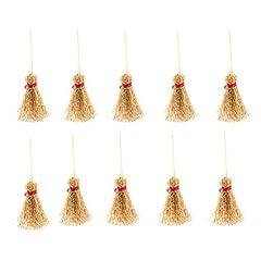 Idea Regalo - Healifty 10 pz Scope Artigianali Mini Manici di Scopa Decorazioni Decorazioni Giocattoli di Paglia Scopa Accessorio per la Festa - L