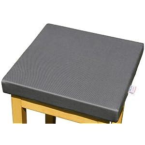 LUplus Orthopädische Sitzerhöhung 40x40x Höhe 5 cm Cottonköper, schiefergrau
